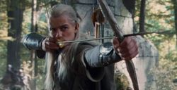 Bow of the Galadhrim as being use by Legolas.JPG